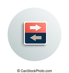 Modern app icon of transfer business concept