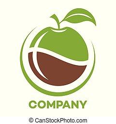 Modern apple logo