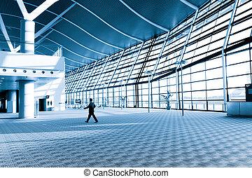 modern architectural - interior of the modern architectural...