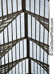 modern, architectural tervezés, közül, egy, pályaudvar
