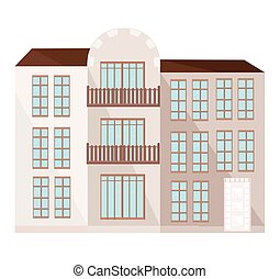 Modern architecture facade building vector illustration