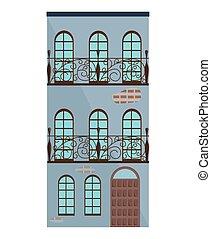 Modern architecture facade building vector illustrations