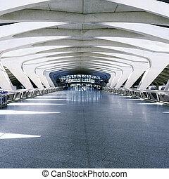Modern architecture hall
