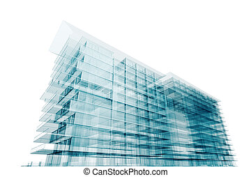 Modern architecture. Isolated on white
