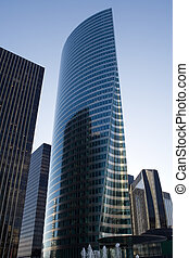 Modern architecture - Modern skyscraper in La Defense...