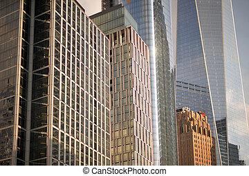 Modern architecture of New York city, USA. background