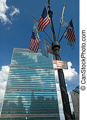 modern architecture of The United Nations Headquarters in New York City,