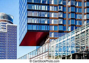 Modern architecture office and hotel apartment buildings