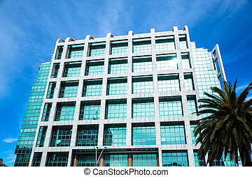 Modern Architecture on the Plaza Independencia in Montevideo...