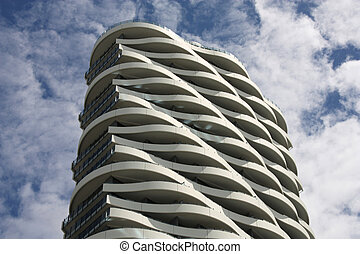 Modern architecture - Original building - balconies like ...
