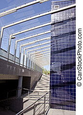 modern architecture staircase in city street