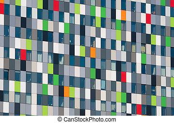 modern architecture - detail of a modern building on the...