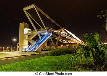 bridge on a background night city