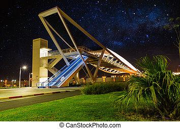 bridge on a background night sky