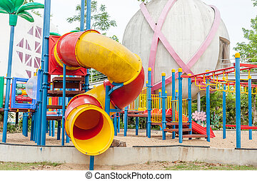 Modern  area for children playground in park