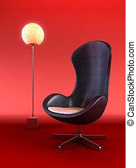 modern armchair 3d rendering - modern armchair 3D computer ...