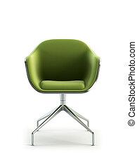 modern armchair 3d rendering - modern armchair 3D isolated ...