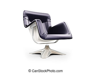 Modern armchair isolated view