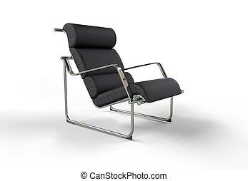 Modern Armchair - leather
