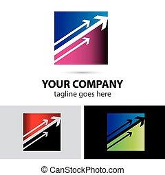 Modern arrow company logo, abstract