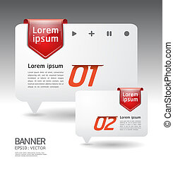 Modern arrow Design template / can be used for infographics...