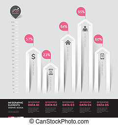Modern arrow infographics element.