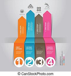 Modern arrow infographics energy.