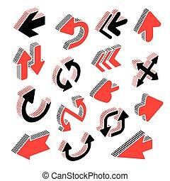 modern arrows set