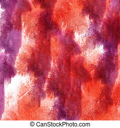 modern art avant-guard wallpaper seamless pattern red, violet hand-drawing watercolor texture background