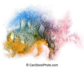 modern art blue, red, yellow avant-guard wallpaper seamless...