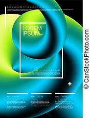 Modern art flyer template