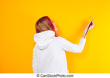 Modern art form of painting on the wall