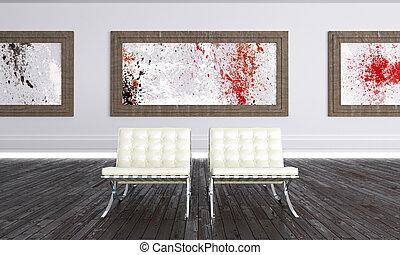 Modern art gallery - Luminous Modern Art Gallery with...