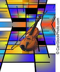 Modern Art violin abstract