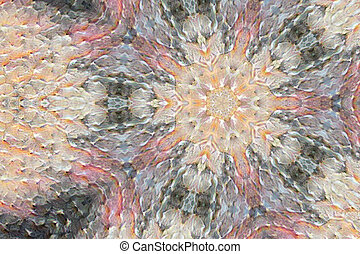 modern artistic texture mandala