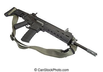 Modern assault rifle isolated