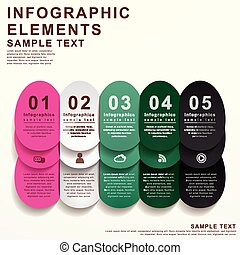 modern attractive infographic elements design