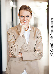 modern attractive young businesswoman