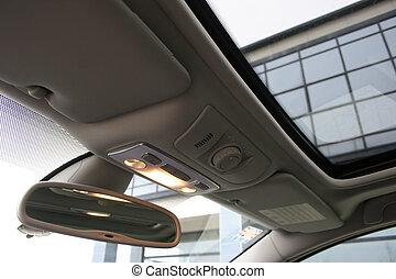modern, autó belső