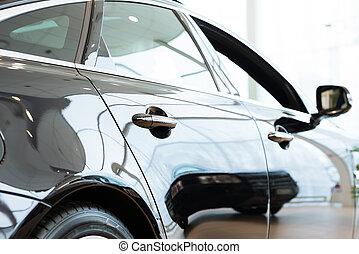 modern, autó