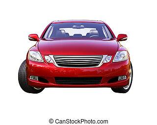 modern, autó, van, elszigetelt, képben látható, egy, fehér