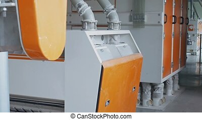 Modern automated gristmill for flour manufacturing