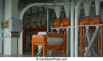 Modern automated gristmill for flour manufacturing - Modern...