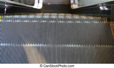 Modern Automatic Escalator Up and Down in Subway