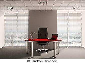 modern, büro- innere