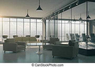 modern, bürolobby, inneneinrichtung