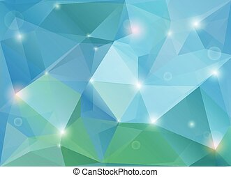 Modern background - Abstract green-blue diamond shaped...