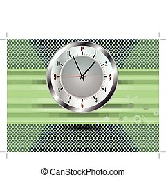 modern background and clock