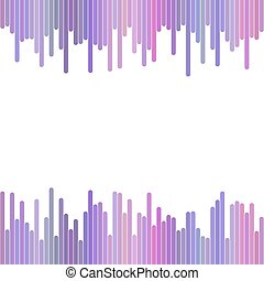 Modern background from vertical stripes in purple tones - vector design