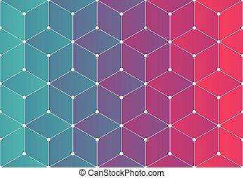 Modern background pattern - Modern network background...